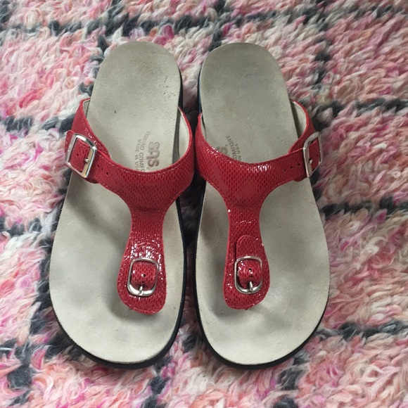 53bd821170f2 SAS red snake Sanibel thong buckle sandals size 8.  M 5aede3712c705d7b389a38c7. Other Shoes ...